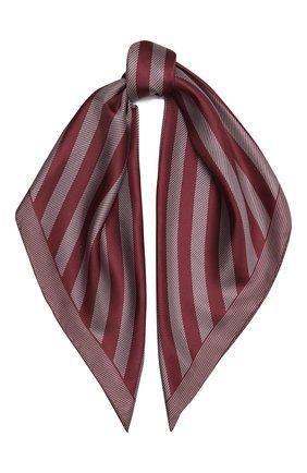 Женский шелковый платок GIORGIO ARMANI бордового цвета, арт. 795314/0A150 | Фото 1