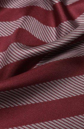 Женский шелковый платок GIORGIO ARMANI бордового цвета, арт. 795314/0A150 | Фото 2