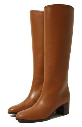 Женские кожаные сапоги paris  LORO PIANA коричневого цвета, арт. FAI7062 | Фото 1