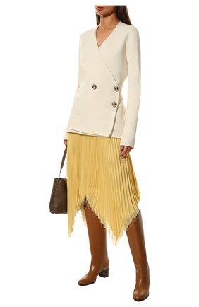 Женские кожаные сапоги paris  LORO PIANA коричневого цвета, арт. FAI7062 | Фото 2
