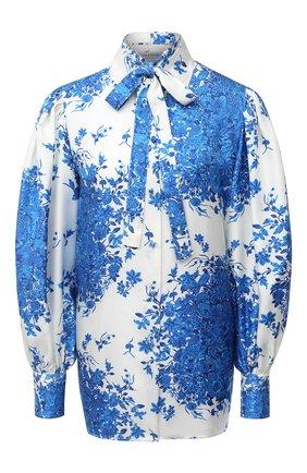 Женская шелковая блузка VALENTINO голубого цвета, арт. UB3AB1F05KM   Фото 1