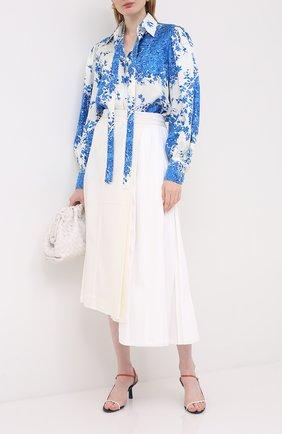 Женская шелковая блузка VALENTINO голубого цвета, арт. UB3AB1F05KM   Фото 2