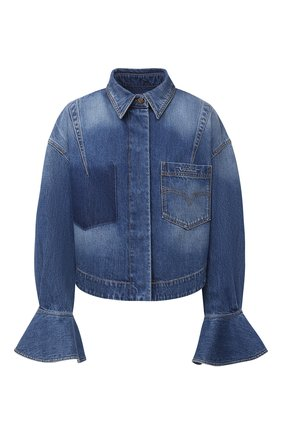 Женская джинсовая куртка VALENTINO голубого цвета, арт. UB3DB00X5D7 | Фото 1