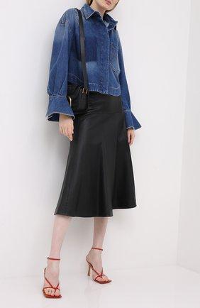 Женская джинсовая куртка VALENTINO голубого цвета, арт. UB3DB00X5D7 | Фото 2