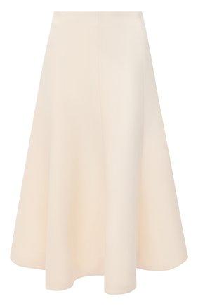Женская юбка из шерсти и шелка VALENTINO белого цвета, арт. UB3RA6951CF | Фото 1