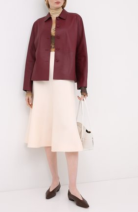 Женская юбка из шерсти и шелка VALENTINO белого цвета, арт. UB3RA6951CF | Фото 2