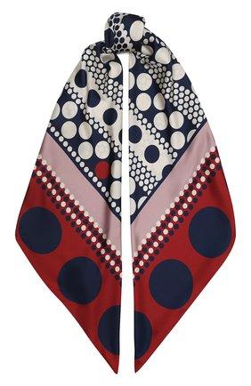 Женский шелковый платок valentino garavani VALENTINO синего цвета, арт. UW2EB104/EES | Фото 1