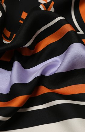Женский шелковая шаль valentino garavani VALENTINO черного цвета, арт. UW2EB104/FHJ | Фото 2