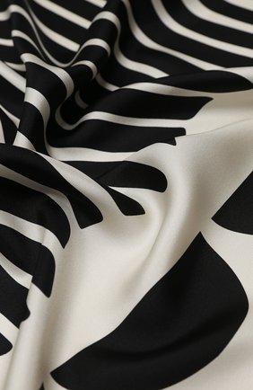Женский шелковый платок valentino garavani VALENTINO черно-белого цвета, арт. UW2EI114/AGE | Фото 2