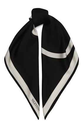 Женский шелковый платок valentino garavani VALENTINO черного цвета, арт. UW2EI114/QZW | Фото 1