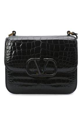 Женская сумка valentino garavani из кожи аллигатора VALENTINO черного цвета, арт. UW2B0F01/XDE/AMIS | Фото 1