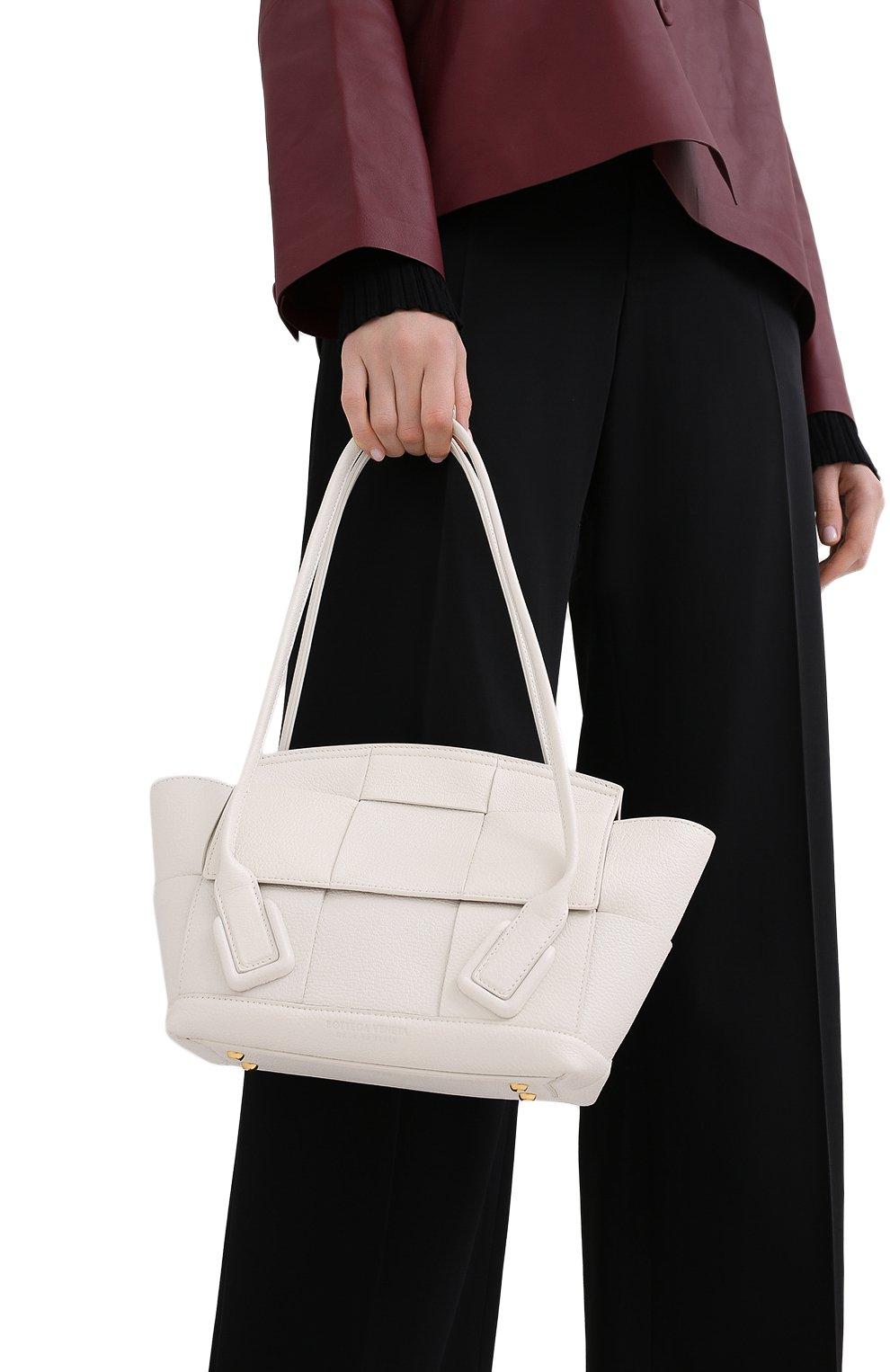 Женская сумка arco 33 BOTTEGA VENETA белого цвета, арт. 575943/VA981   Фото 2