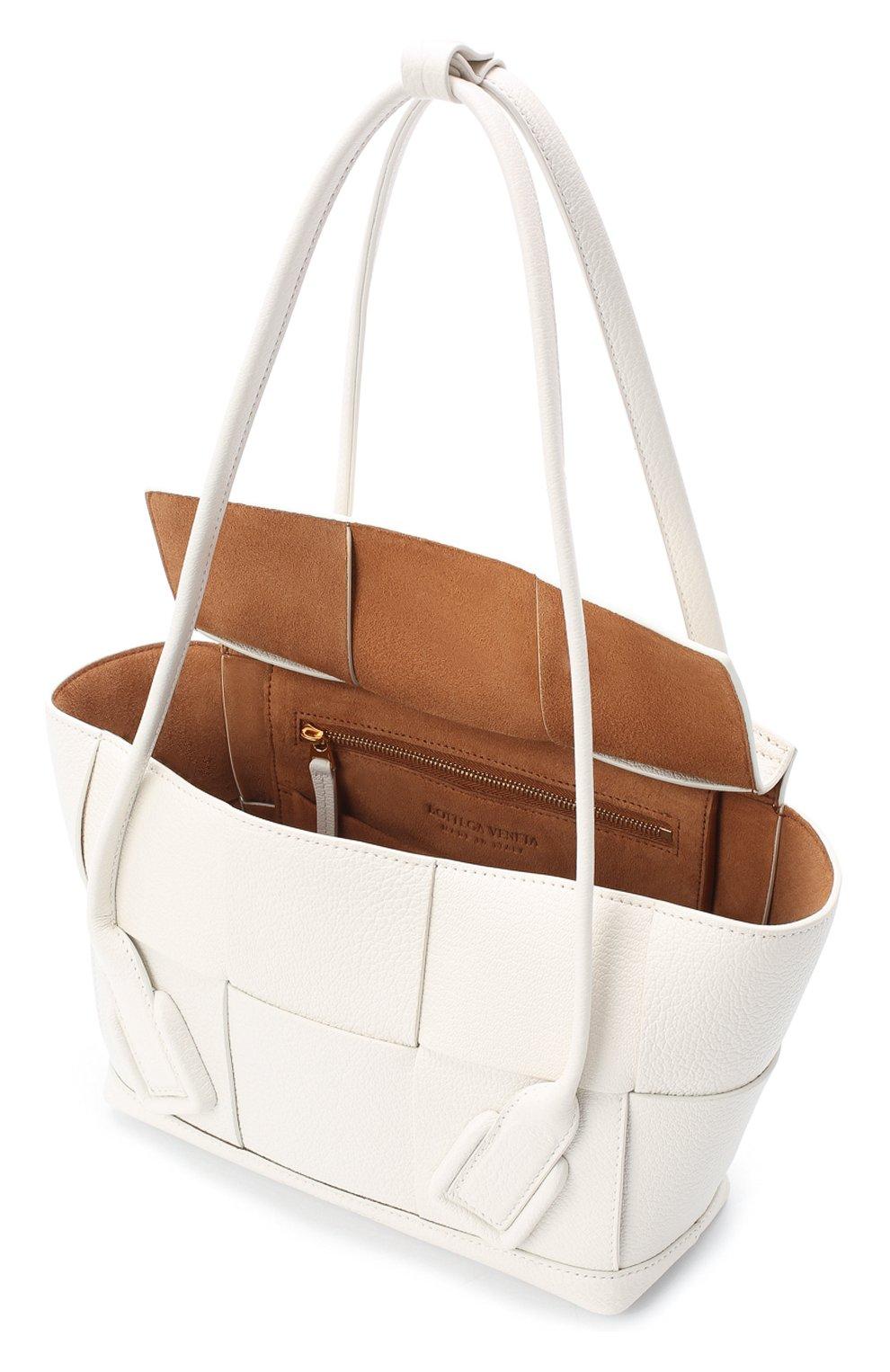 Женская сумка arco 33 BOTTEGA VENETA белого цвета, арт. 575943/VA981   Фото 4