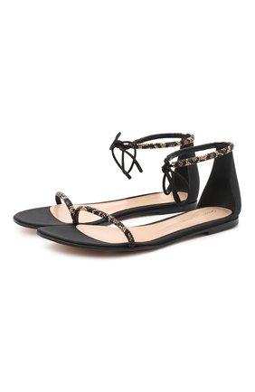 Женские комбинированные сандалии luma GIANVITO ROSSI черного цвета, арт. G61566.05CU0.CWPNENE | Фото 1