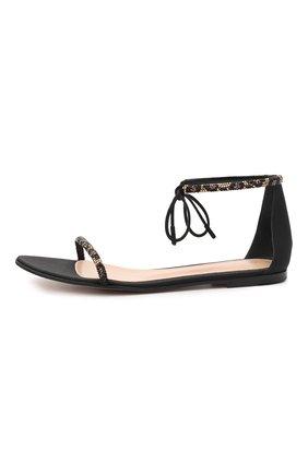 Женские комбинированные сандалии luma GIANVITO ROSSI черного цвета, арт. G61566.05CU0.CWPNENE | Фото 3