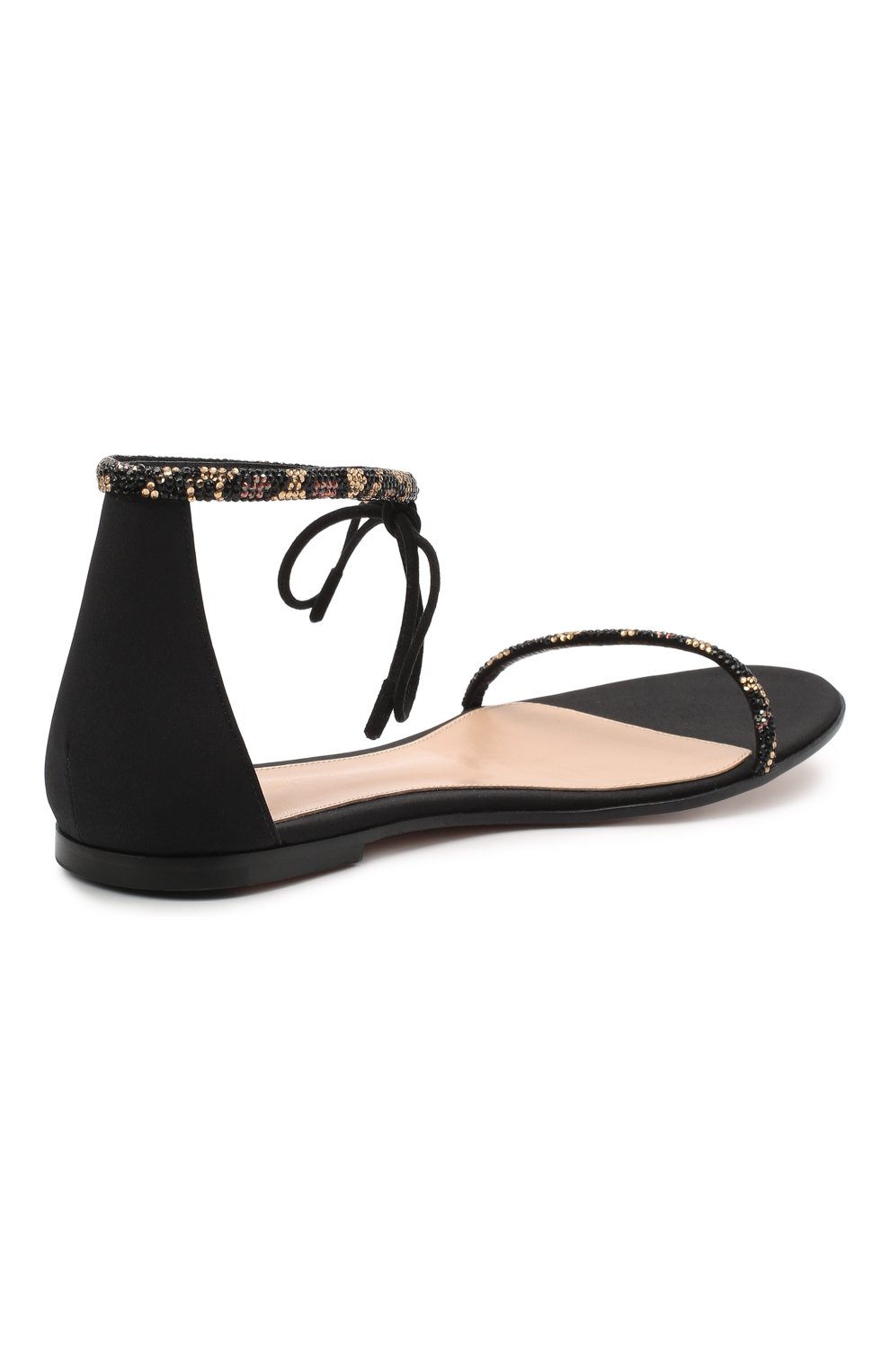 Женские комбинированные сандалии luma GIANVITO ROSSI черного цвета, арт. G61566.05CU0.CWPNENE | Фото 4