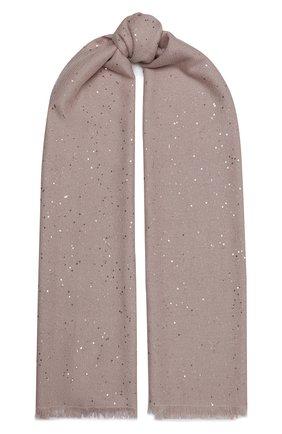 Мужские шарф из смеси кашемира и шелка BRUNELLO CUCINELLI розового цвета, арт. MSC915029P | Фото 1