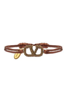 Женский браслет valentino garavani vlogo VALENTINO коричневого цвета, арт. UW2J0F81/YAB   Фото 1