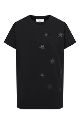 Женская хлопковая футболка SEVEN LAB черного цвета, арт. T20-STARS-G019 black | Фото 1