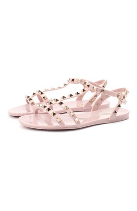 Женские сандалии valentino garavani summer rockstud VALENTINO светло-розового цвета, арт. UW2S0H38/PVS | Фото 1