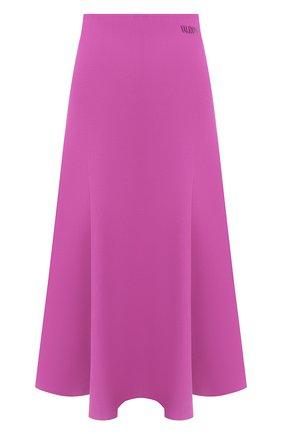 Женская юбка из вискозы VALENTINO фиолетового цвета, арт. UB3KG01N5MN | Фото 1