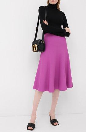 Женская юбка из вискозы VALENTINO фиолетового цвета, арт. UB3KG01N5MN | Фото 2