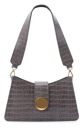 Женская сумка baguette ELLEME серого цвета, арт. BAGUETTE/LEATHER | Фото 1