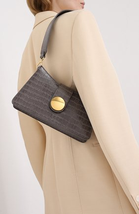 Женская сумка baguette ELLEME серого цвета, арт. BAGUETTE/LEATHER | Фото 2