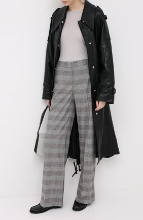 Женские шерстяные брюки LORENA ANTONIAZZI бежевого цвета, арт. A2029PA045/3272 | Фото 2