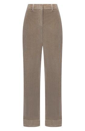 Женские хлопковые брюки LORENA ANTONIAZZI бежевого цвета, арт. A2044PA024/3068 | Фото 1