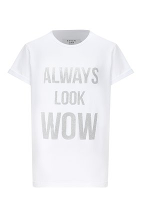 Женская хлопковая футболка SEVEN LAB белого цвета, арт. T20-ALW G021 white | Фото 1
