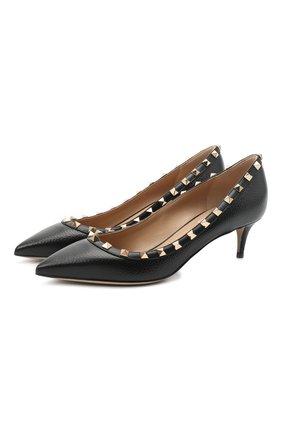 Женская кожаные туфли valentino garavani rockstud VALENTINO черного цвета, арт. UW2S0V22/VCE | Фото 1