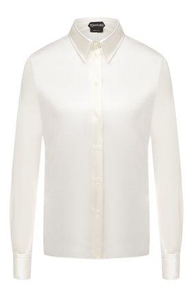 Женская шелковая блузка TOM FORD белого цвета, арт. CA3100-FAX334 | Фото 1