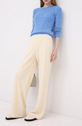 Женская кашемировый пуловер RALPH LAUREN голубого цвета, арт. 290615209 | Фото 2