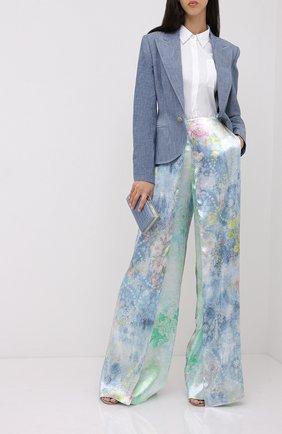 Женский хлопковый жакет RALPH LAUREN синего цвета, арт. 290812687 | Фото 2
