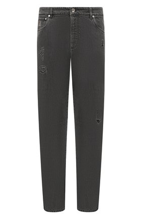 Мужские джинсы BRUNELLO CUCINELLI серого цвета, арт. ME245X2340 | Фото 1