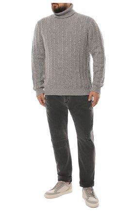 Мужские джинсы BRUNELLO CUCINELLI серого цвета, арт. ME245X2340 | Фото 2
