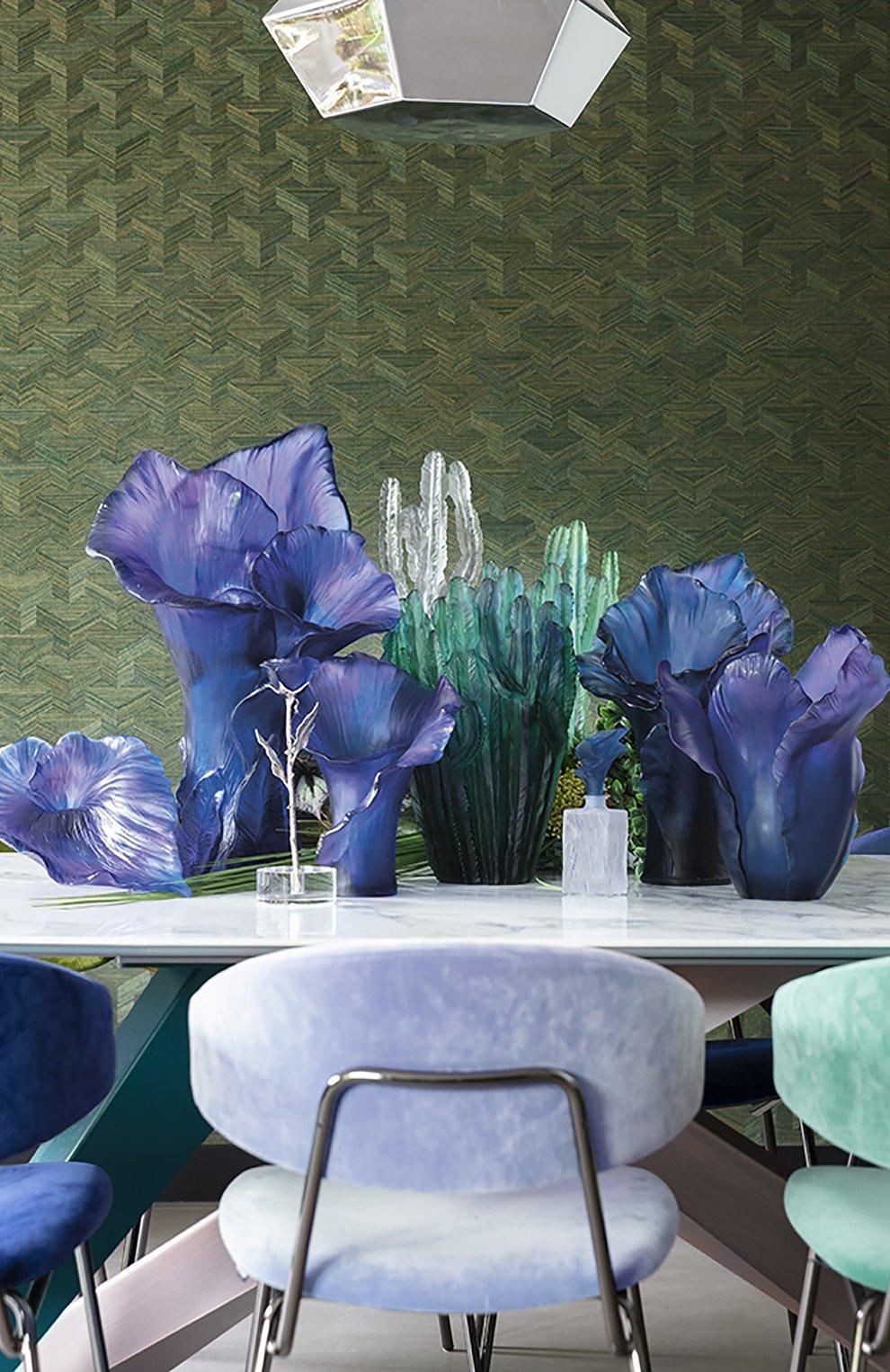 Мужского ваза arum DAUM синего цвета, арт. 05649 | Фото 2