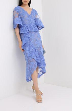 Женское платье-миди MARCHESA синего цвета, арт. M28921 | Фото 2