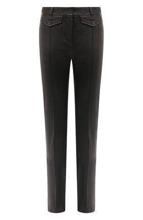 Женские кожаные брюки TOM FORD черного цвета, арт. PAL700-LEX224 | Фото 1