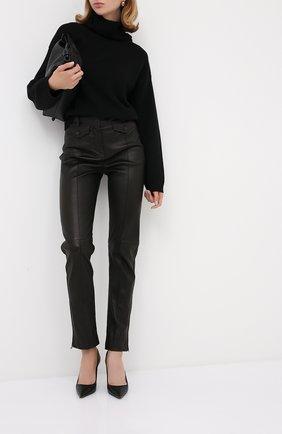 Женские кожаные брюки TOM FORD черного цвета, арт. PAL700-LEX224 | Фото 2