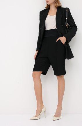 Женская кожаные туфли valentino garavani rockstud VALENTINO кремвого цвета, арт. UW2S0057/VCE | Фото 2