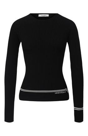 Женский пуловер из вискозы VALENTINO черно-белого цвета, арт. UB3KC15V5NR | Фото 1