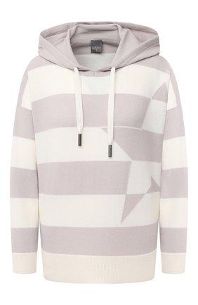 Женский пуловер с капюшоном LORENA ANTONIAZZI бежевого цвета, арт. A20116FM004/204 | Фото 1
