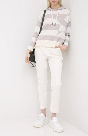 Женский пуловер с капюшоном LORENA ANTONIAZZI бежевого цвета, арт. A20116FM004/204 | Фото 2