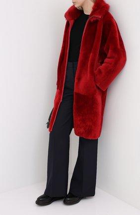 Женская двусторонняя дубленка GIORGIO ARMANI красного цвета, арт. 9AL05P/9AP08 | Фото 2