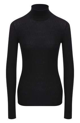 Женская водолазка из шерсти и шелка ELEVENTY черного цвета, арт. B81MAGB53 MAG23021   Фото 1