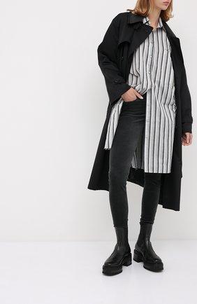 Женские брюки 7 FOR ALL MANKIND серого цвета, арт. JSWTV650GR | Фото 2