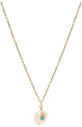 Женское кулон с цепочкой ANNI LU золотого цвета, арт. 180-02-32 | Фото 2