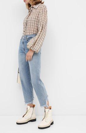 Женские джинсы 7 FOR ALL MANKIND синего цвета, арт. JSA71200L0 | Фото 2